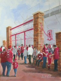 Middlesbrough AFC football paintings by Dick Gilhespy
