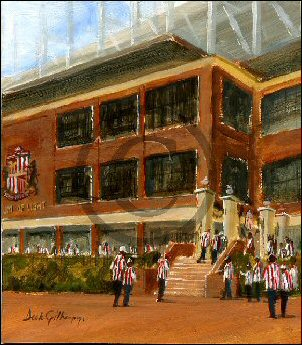 Sunderland AFC football paintings by Dick Gilhespy