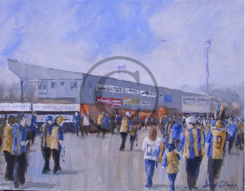Shrewesbury football paintings by Dick Gilhespy