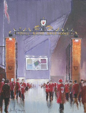 Liverpool FC football paintings by Dick Gilhespy