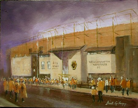 Wolverhampton Wanderers AFC football paintings by Dick Gilhespy